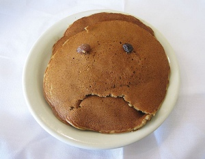 Even sad Pancakes make me hungry